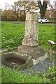 SE4964 : Old Wayside Cross and Guidestone south of Alne village by J Howat