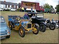 SJ9593 : Classic cars at Gee Cross Fete 1998 by Gerald England