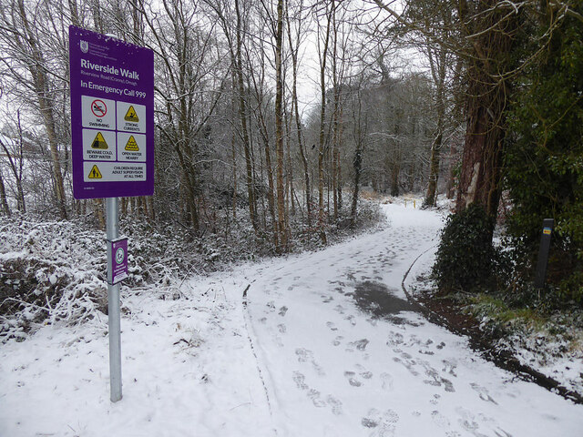 Snow along the Highway to Health path