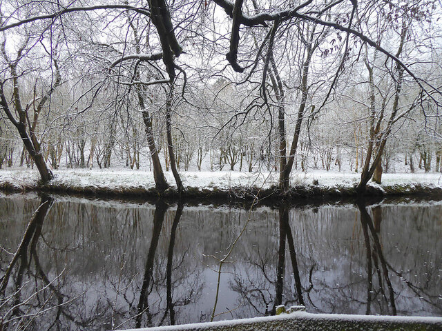 Wintry reflections, Camowen River