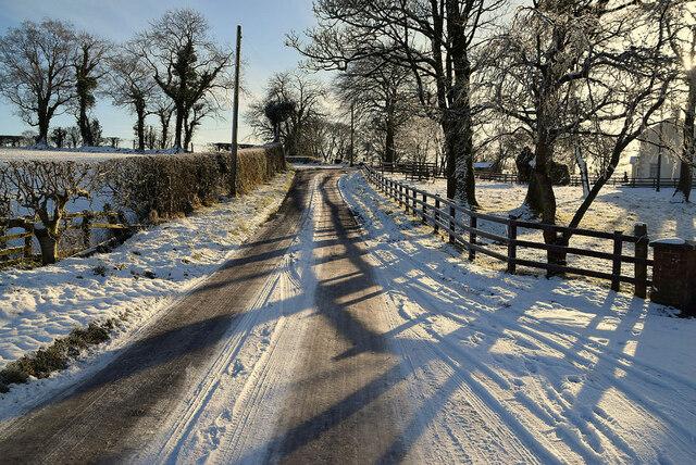 Snow, Creevangar