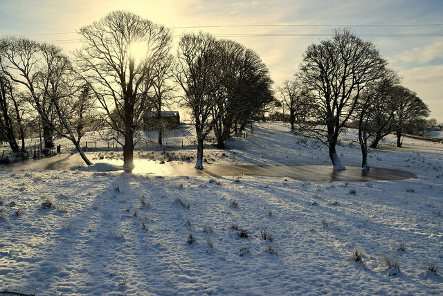 Winter sun, Creevangar