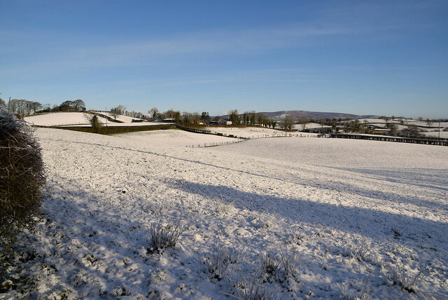 Snow covered fields, Fireagh