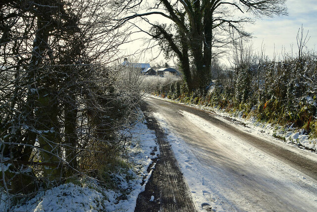 Icy along Fireagh Road
