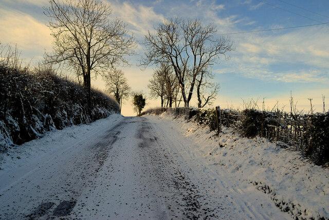 Snow along Loughmuck Road