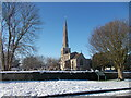 TF1505 : St. Benedict's Church, Glinton, in the snow by Paul Bryan
