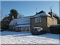 TF1505 : The Blue Bell, Glinton, in the snow by Paul Bryan