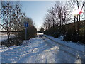 TF1605 : Foxcovert Road, Peakirk, in the snow by Paul Bryan