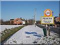 TF1606 : St. Pega's Road, Peakirk, in the snow by Paul Bryan