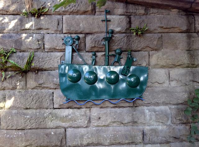 """""""Pirate Ship"""", Aire Sculpture Trail"""