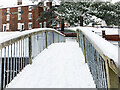 SO8171 : Snow covered footbridge in the Canal Basins, Stourport-on-Severn, Worcs by P L Chadwick
