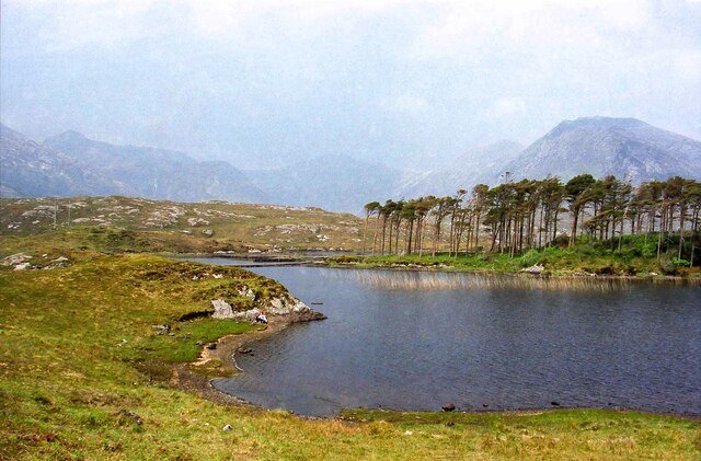 View across Derryclare Lough - May 1994