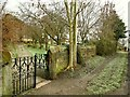 SE2040 : St John's church, Yeadon - churchyard gates by Stephen Craven