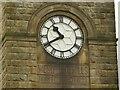 SE2041 : Westfield Mill, Yeadon - clock tower detail by Stephen Craven