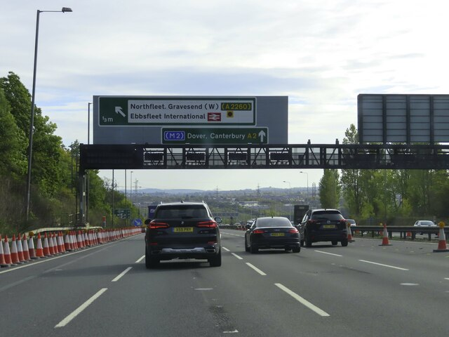 The A2 heading east