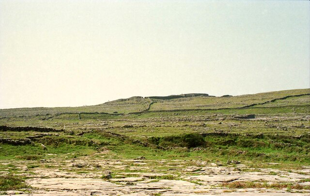 Approaching Dún Aonghasa on Inishmore