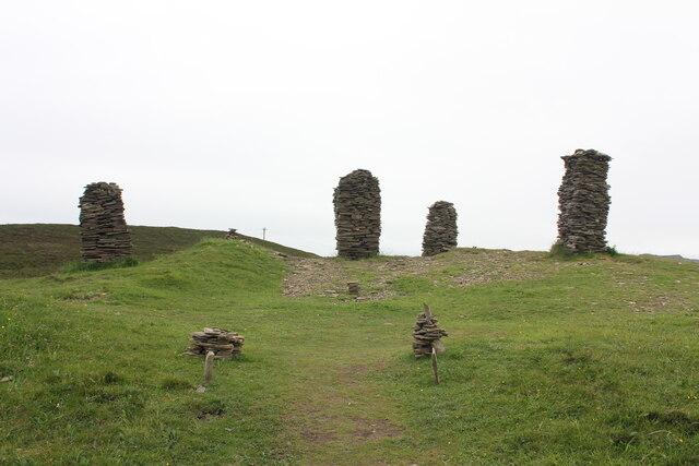 Stone Men on Cuween Hill, Orkney