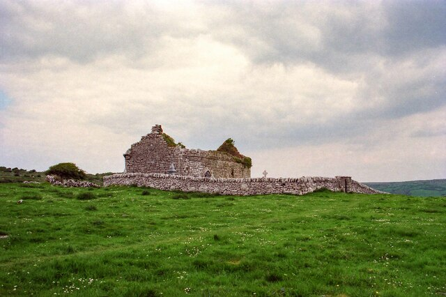 The ruins of Carron Church on the Burren, County Clare