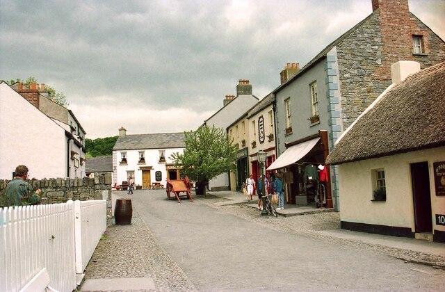 The Village Street at Bunratty Folk Park - May 1994
