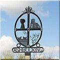 TM1853 : Ashbocking village sign by Adrian S Pye