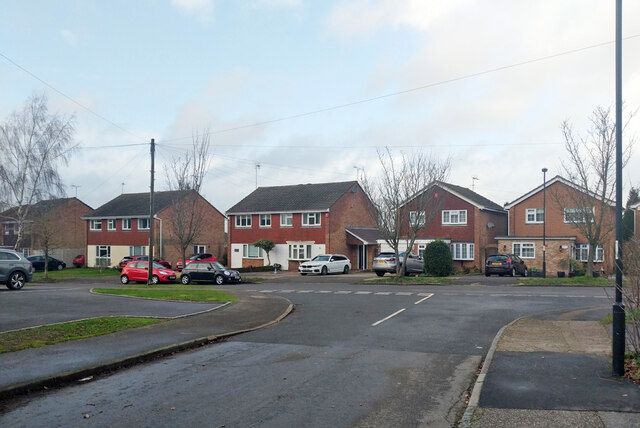 Houses on Heathfield, Pound Hill, Crawley by Robin Webster