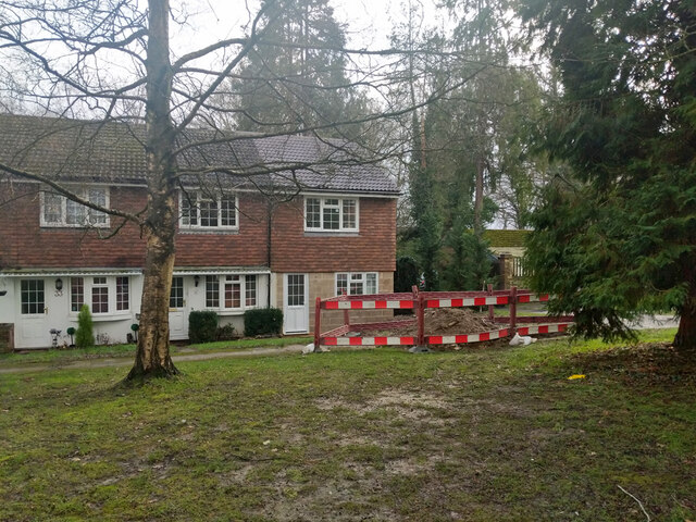 Houses on Walton Heath, Pound Hill, Crawley by Robin Webster