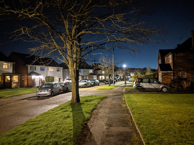 Burns Road, Pound Hill, Crawley by Robin Webster