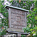 TL8248 : Brook Street village sign by Adrian S Pye