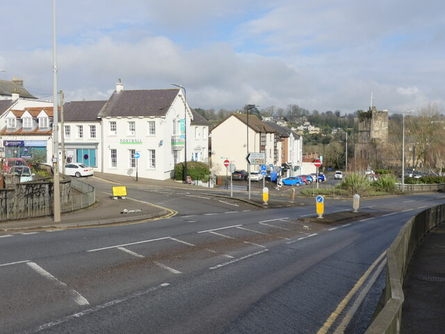 Road junction on the A48, Chepstow
