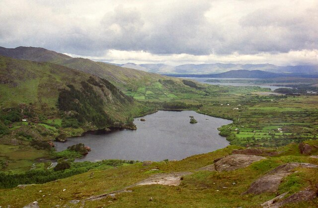 View towards Glanmore Lake from the Healy Pass - June 1994
