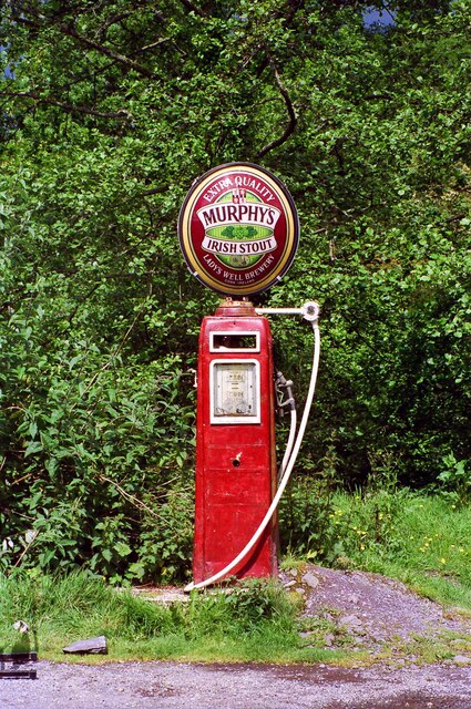 Murphy's Stout petrol pump, Lauragh - June 1994