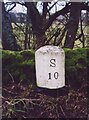 SD7686 : Old Milestone, near the Sportsman Inn by Christine Minto