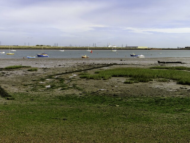 The foreshore looking out to Gillingham Reach