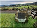 SD8541 : Commemorative Marker on the A682 Gisburn Road at Blacko by D Phillips