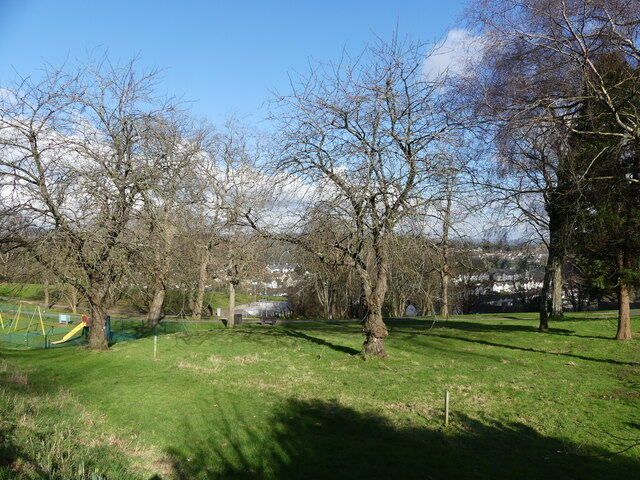 Piggy's Hill park - the southernmost corner from Bulwark Road, Chepstow