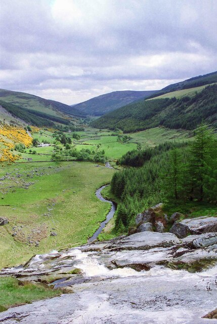View from the top of the Glenmacnass Waterfall