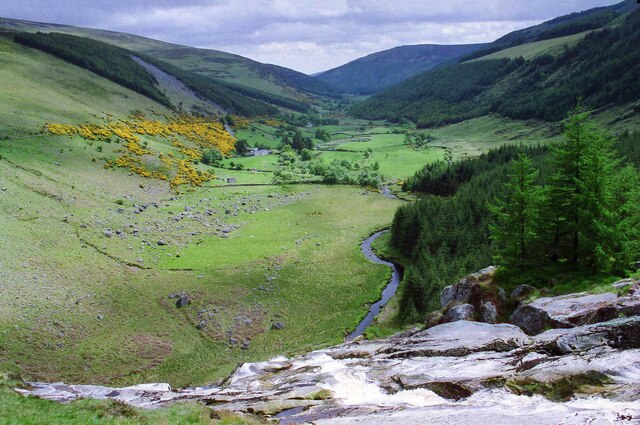 View down the valley from the Glenmacnass Waterfall