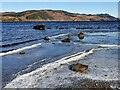 NM8904 : Ice on the shore of Loch Awe by Patrick Mackie