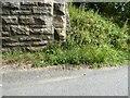 NZ1451 : Stony Heap Lane Bridge abutment by Adrian Taylor