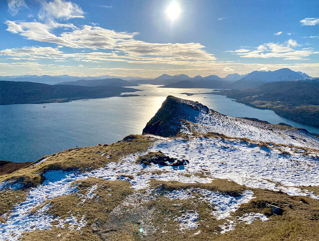 South from the top of Ben Tianavaig