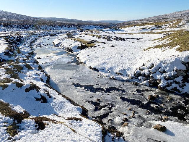 Ice on the River Rha