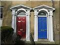 NZ3568 : Doorways, 19 & 20 Northumberland Square, North Shields by Geoff Holland