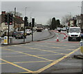 ST3090 : Coned-off lane, Malpas Road, Newport by Jaggery