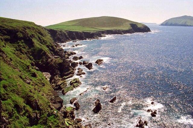 View across Dunquin Bay towards Dunmore Head