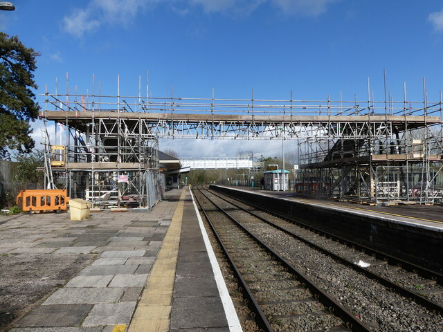 Chepstow station footbridge dismantled and out of use