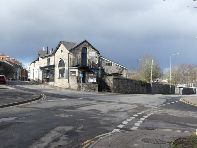 Station Road and Mill Lane, with stormy clouds, Chepstow