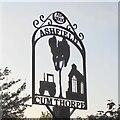 TM2162 : Ashfield cum Thorpe village sign by Adrian S Pye
