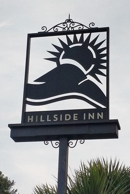 Inn sign, Hillside Inn, Pound Hill, Crawley by Robin Webster