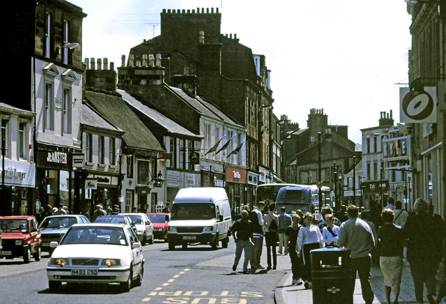 Looking south on Ayr High Street, May 2000