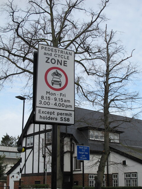 School street traffic restriction, Hanger Vale, Ealing